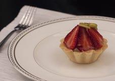 Dessert op een plaat Royalty-vrije Stock Foto's