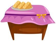 Dessert op houten lijst Royalty-vrije Stock Fotografie