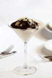 Dessert op lijst Stock Fotografie