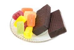 Dessert op plaat Stock Afbeeldingen