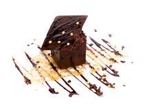 dessert operato isolato del cioccolato Immagini Stock