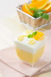 Dessert - Orange cake Royalty Free Stock Image