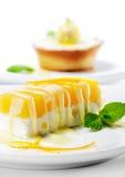 Dessert - Orange Cheesecake Stock Image
