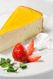 Dessert - Orange Cheesecake Stock Image