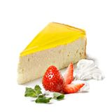 Dessert - Orange Cheesecake Royalty Free Stock Photography