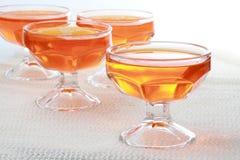 Dessert orange de gelée photographie stock libre de droits