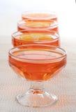 Dessert orange de gelée images libres de droits