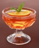 Dessert orange de gelée photo stock