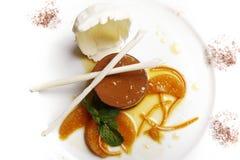 Dessert orange de Toping Images libres de droits