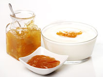 Dessert with orange jam Stock Photography