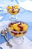 Dessert of orange slices and berries cranberries Royalty Free Stock Photo
