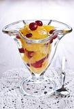 Dessert of orange slices and berries cranberries Royalty Free Stock Photos