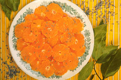 Dessert of oranges Royalty Free Stock Photos