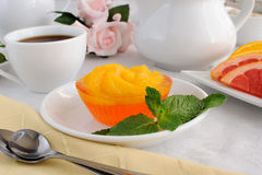 Dessert of oranges in jelly Stock Photography