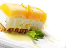 Dessert - Oranje Kaastaart stock afbeelding