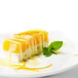 Dessert - Oranje Kaastaart stock foto's