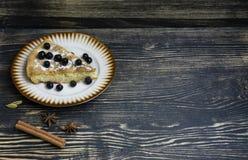 Dessert organico casalingo della torta di mele pronto da mangiare immagini stock