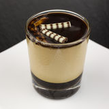 Dessert panna cotta with espresso Stock Photo
