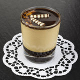 Dessert panna cotta with espresso Royalty Free Stock Photography