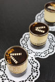 Dessert panna cotta with espresso Stock Photography