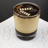 Dessert panna cotta with espresso Stock Image