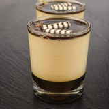 Dessert panna cotta with espresso Stock Images