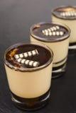 Dessert panna cotta with espresso Stock Image