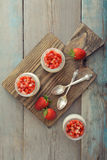 Dessert panna cotta Royalty Free Stock Images