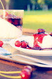 Dessert panna cotta Stock Image