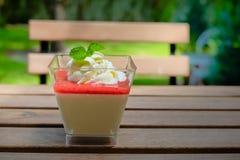 Dessert panna cotta Royalty Free Stock Photo