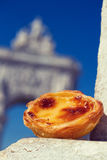 Dessert pastel de nata Stock Photos