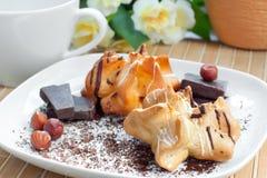 Dessert, pasticcerie e pezzi del cioccolato Fotografia Stock Libera da Diritti