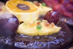 Dessert of pastry in restaurant Stock Image