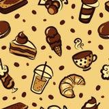 Dessert pattern Stock Image