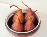 Dessert from a pear Stock Image