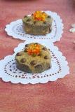 Dessert per un San Valentino fotografia stock libera da diritti