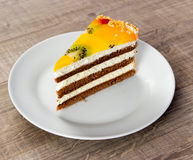 Dessert. Photo on wood table Royalty Free Stock Photos