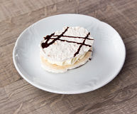 Dessert. Photo on wood table Royalty Free Stock Photography