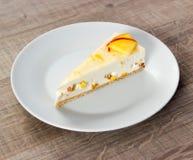 Dessert. Photo on wood table Stock Photos
