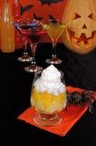 Dessert of pineapple and orange whipped cream Royalty Free Stock Photo