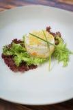 Dessert placcati pranzanti fini Fotografia Stock Libera da Diritti