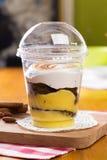 Dessert in plastic cup Stock Image