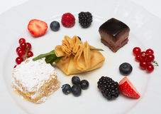 Dessert on plate Royalty Free Stock Photo