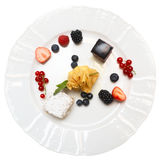 Dessert on plate Royalty Free Stock Image
