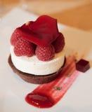 Dessert on plate. In restaurant Royalty Free Stock Photo