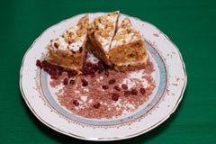 Dessert on plate Royalty Free Stock Image