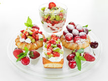 Dessert plate Royalty Free Stock Photos