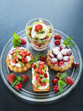 Dessert plate Stock Images