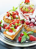 Dessert plate Royalty Free Stock Photo