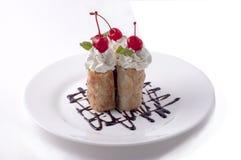 Dessert on platter Stock Image